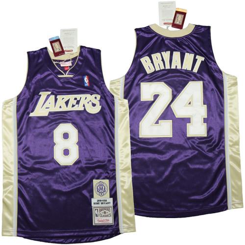 Kobe Bryant Purple Hall of Fame Class of 2020 #24 Authentic Retro Classics Jersey