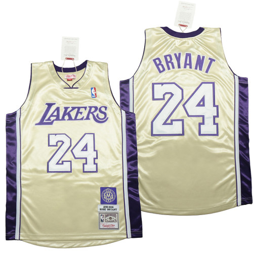 Kobe Bryant Gold Hall of Fame Class of 2020 #24 Authentic Retro Classics Jersey