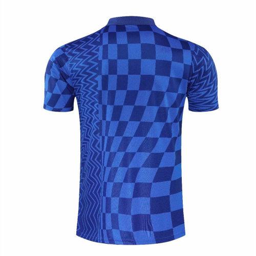 Chelsea 21/22 Pre-Match Polo Shirt - Blue