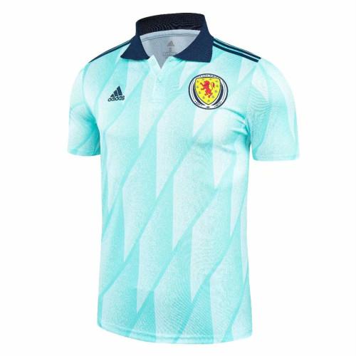 Scotland 2021 Pre-Match Polo Shirt - Blue