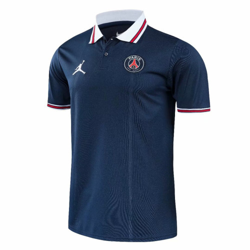 Paris Saint-Germain 21/22 Pre-Match Polo Shirt - Navy