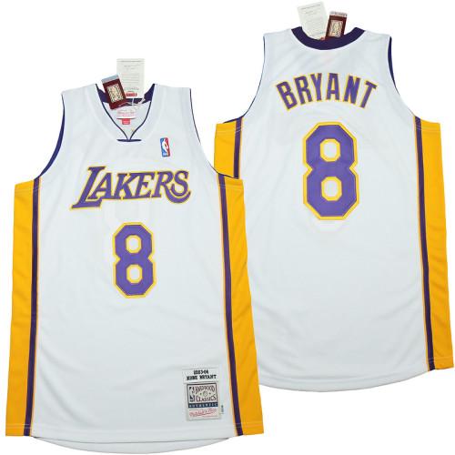 Kobe Bryant #8 White 2003-04 Retro Classics Authentic Jersey