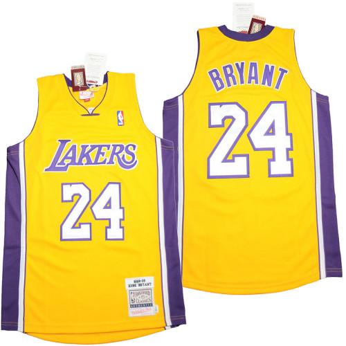 Kobe Bryant #24 Gold Retro Classics 2008-09 Authentic Jersey