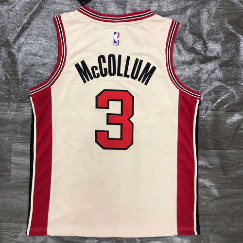 Thai Version Men's C.J. McCollum 2019-20 Cream Swingman Player Jersey - City Edition