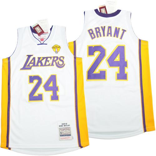 Kobe Bryant #24 White 2009-10 Retro Classics Authentic Jersey