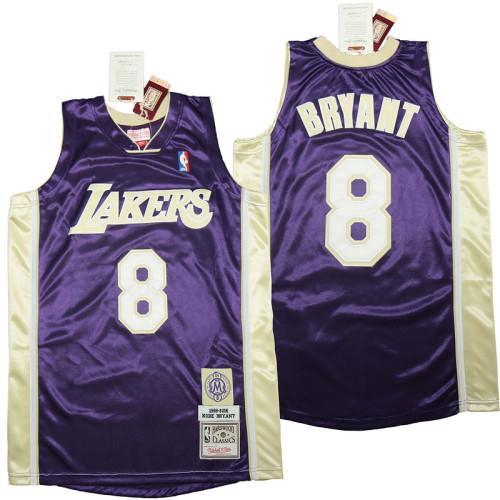 Kobe Bryant Purple Hall of Fame Class of 2020 #8 Authentic Retro Classics Jersey