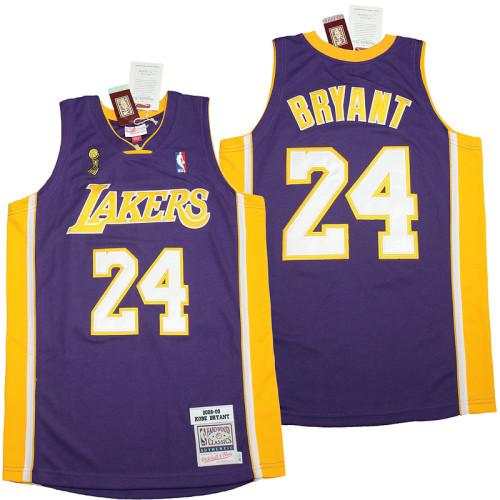 Kobe Bryant #24 Purple 2008-09 Retro Classics Authentic Jersey
