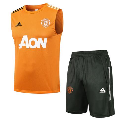 Manchester United 21/22 Sleeveless Training Kit D581#