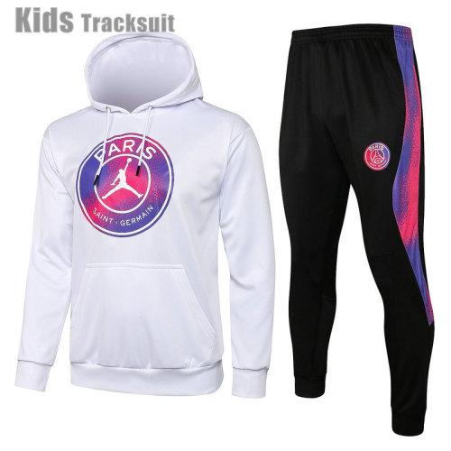 Kids Paris Saint-Germain 21/22 Hoodie Tracksuit E519#