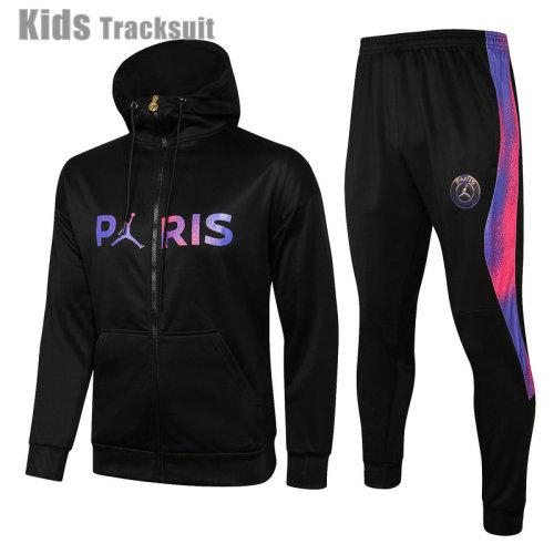 Kids Paris Saint-Germain 21/22 Full-Zip Hoodie Tracksuit E514#