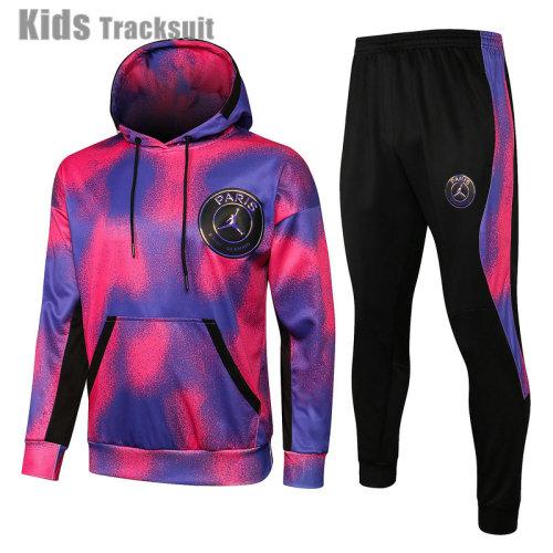 Kids Paris Saint-Germain 21/22 Hoodie Tracksuit E520#