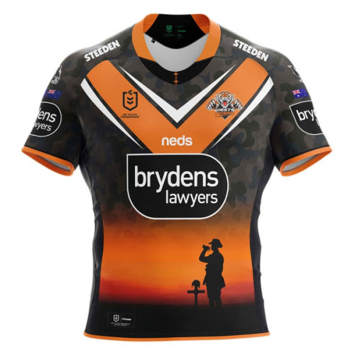 Wests Tigers 2021 Mens ANZAC Rugby Jersey