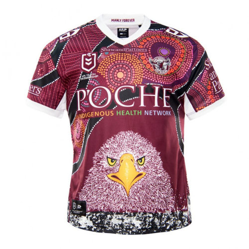 Manly Warringah Sea Eagles 2021 Mens Indigenous Rugby Jersey