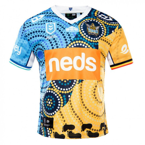 Gold Coast Titans 2021 Mens Indigenous Rugby Jersey