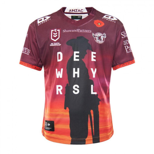 Manly Warringah Sea Eagles 2021 Mens Anzac Rugby Jersey
