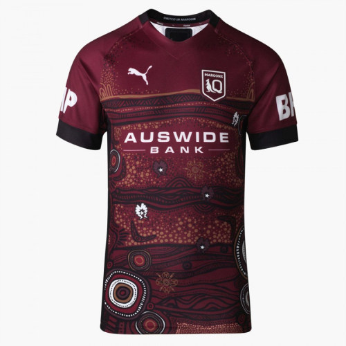 QLD Maroons 2021 Mens Indigenous Rugby Jersey