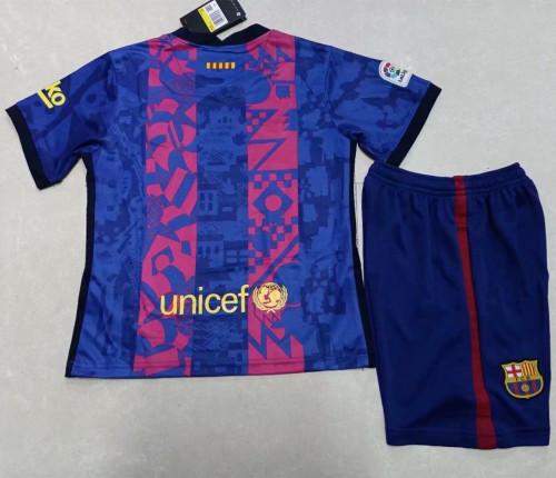 Kids Barcelona 21/22 Third Jersey and Short Kit