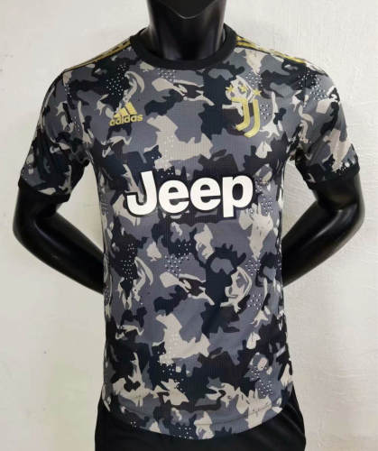Player Version Juventus 21/22 Camo Authentic Jersey - Black