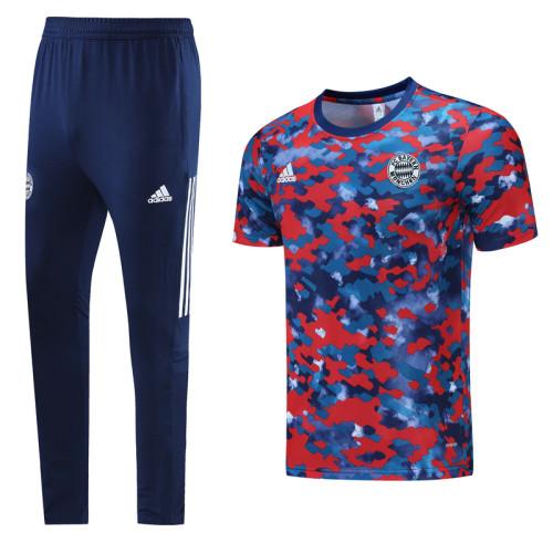 Bayern Munich 21/22 Training Kit Red and Blue DC10
