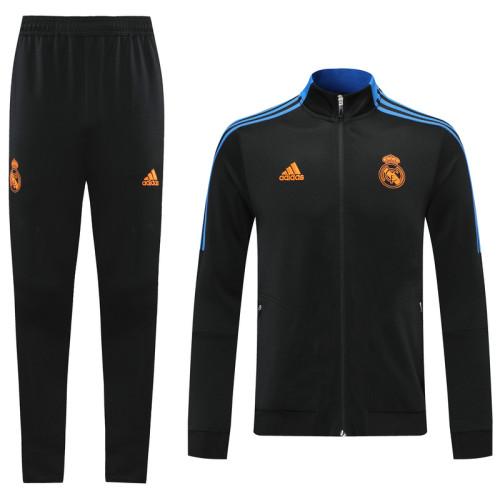 Real Madrid 21/22 Jacket Tracksuit Black CX26