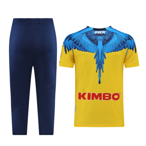 Napoli 21/22 Training Kit Yellow and Blue DQ14