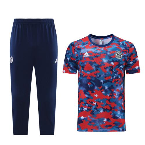 Bayern Munich 21/22 Training Kit Red and Blue DQ10