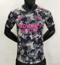 Player Version Real Madrid 21/22 Camo Authentic Jersey - Black