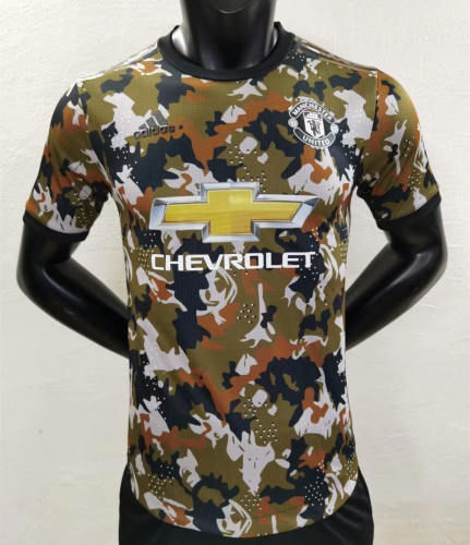 Player Version Manchester United 21/22 Camo Authentic Jersey