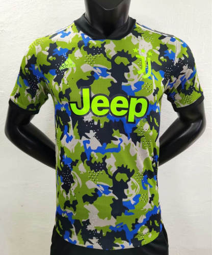 Player Version Juventus 21/22 Camo Authentic Jersey - Green
