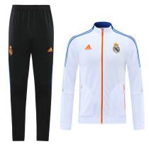 Real Madrid 21/22 Jacket Tracksuit White CX36