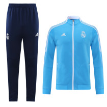 Real Madrid 21/22 Jacket Tracksuit Sky Blue CX33
