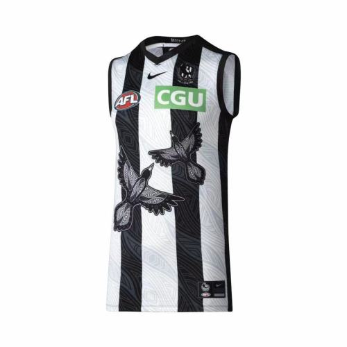 Collingwood Magpies 2021 Men's Indigenous Guernsey