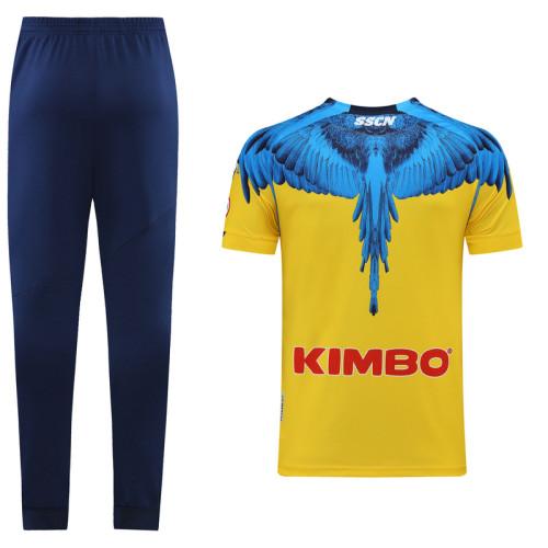 Napoli 21/22 Training Kit Yellow and Blue DC14