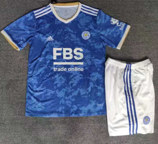 Kids Leicester City 21/22 Home Jersey and Short Kit