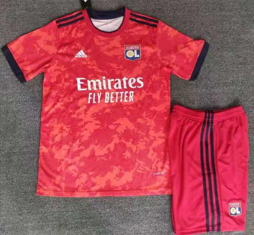 Kids Olympique Lyonnais 21/22 Away Jersey and Short Kit