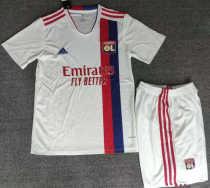 Kids Olympique Lyonnais 21/22 Home Jersey and Short Kit