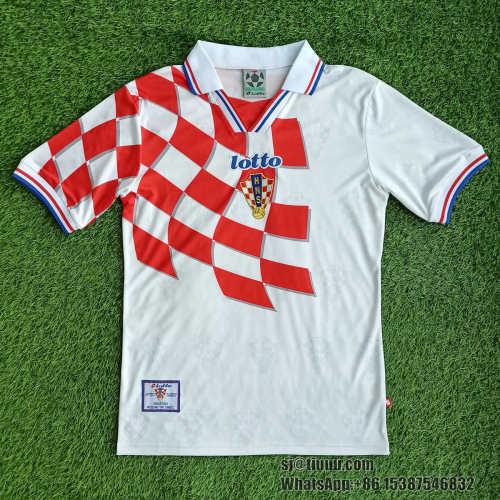 Croatia 1998 Home Retro Soccer Jerseys