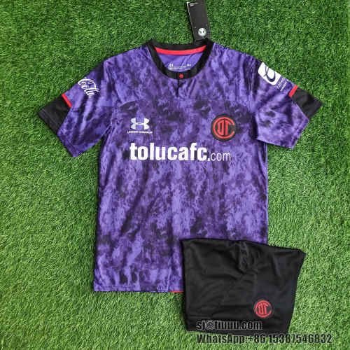 (On Sale) Deportivo Toluca 21/22 Third Jersey and Short Kit