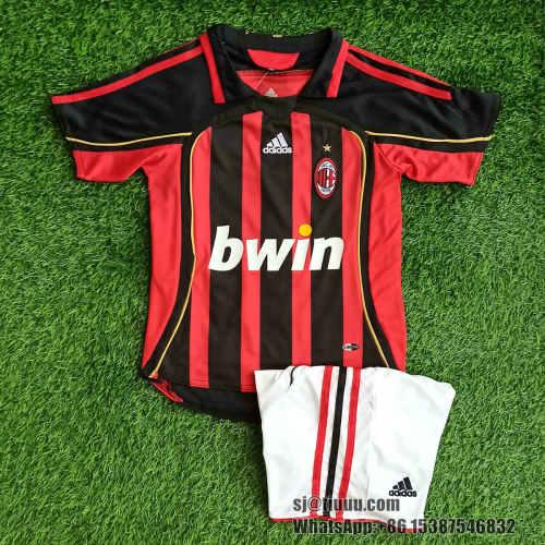 (On Sale) AC Milan 2006/2007 Home Retro Jersey Kit