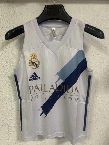 Real Madrid 21/22 Pre Match Training Vest - White