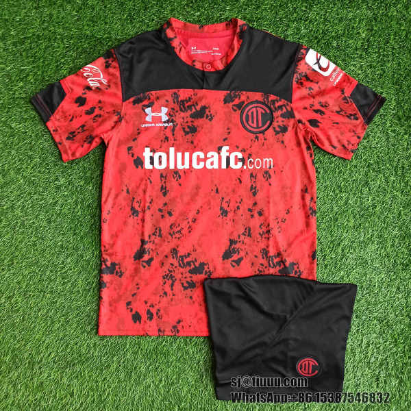 (On Sale) Deportivo Toluca 21/22 Home Jersey and Short Kit