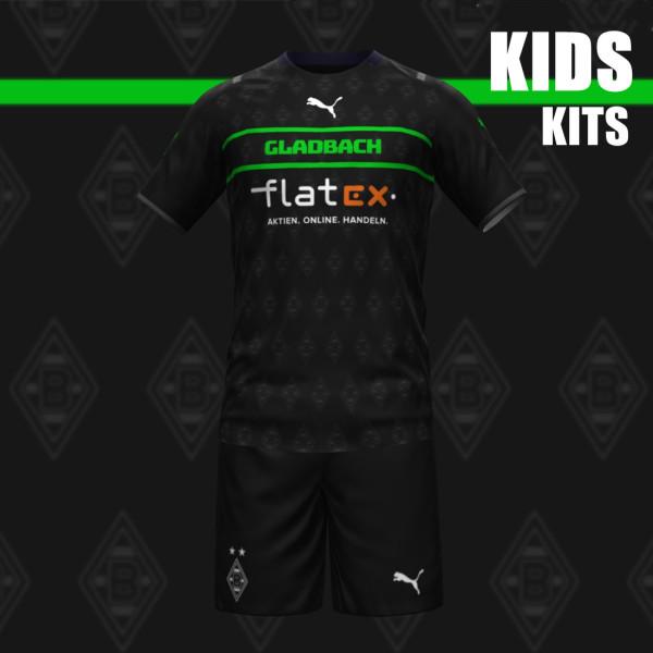 Kids Borussia Mönchengladbach 21/22 Away Jersey and Short Kit
