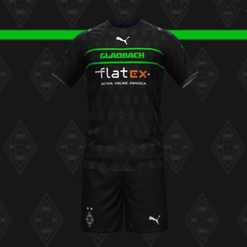 Borussia Mönchengladbach 21/22 Away Jersey and Short Kit
