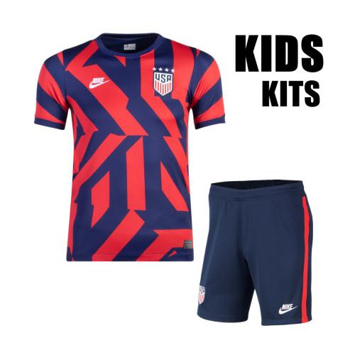 Kids USA 21/22 Away Jersey and Short Kit