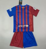 Kids Barcelona 21/22 Home Jersey and Short Kit