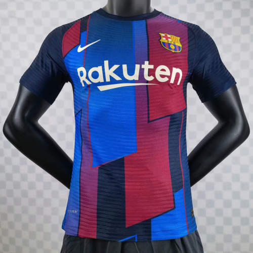 Player Version Barcelona 21/22 Pre-Match Authentic Jersey