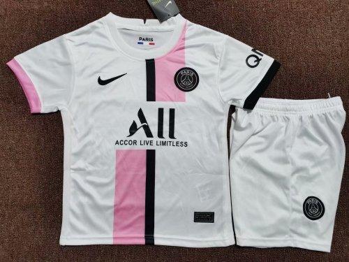 Kids Paris Saint-Germain 21/22 Away Jersey and Short Kit