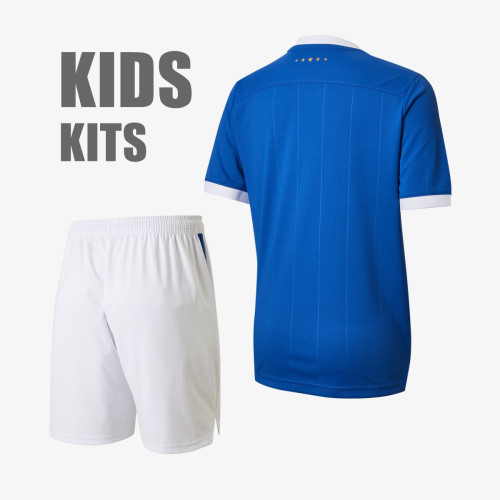 Kids Rangers 21/22 Home 150th Anniversary Jersey and Short Kit