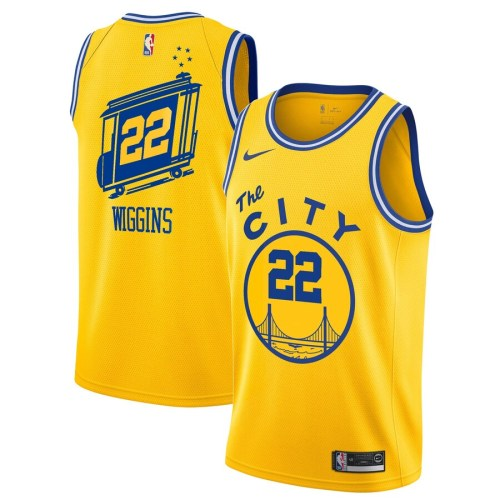 Classic Edition Club Team Jersey - Yellow - Andrew Wiggins - Mens