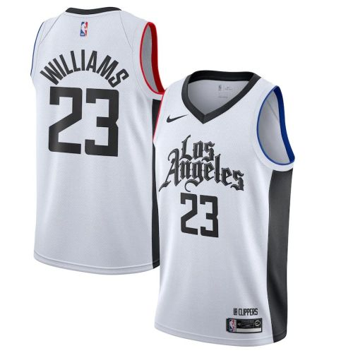 Men's Lou Williams White 2019-20 Finished City Edition Club Team Jersey